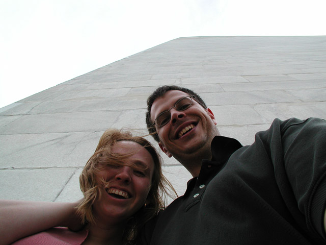 Us in front of the Washington Monument