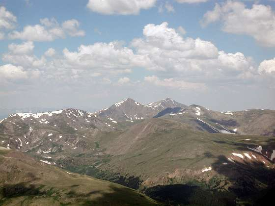 Grays (left) and Torreys (right) peaks in the distance