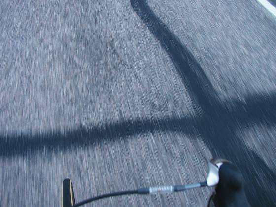 An example of taking photos while riding