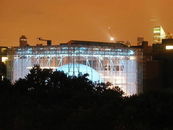 The Hayden Planetarium (view from hotel)