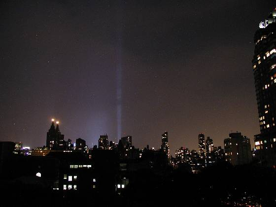 The towers of light on 9-11-03