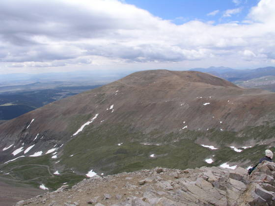 The rather unspectacular Bross summit, from Lincoln summit