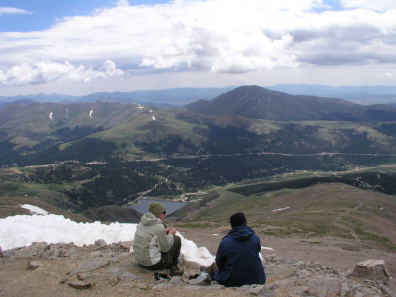 View back towards Hoosier pass from Lincoln Summit