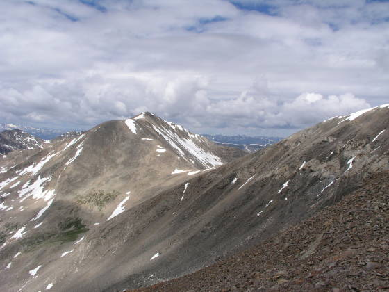 Mt. Democrat (14,148 ft) from Lincoln-Bross Saddle