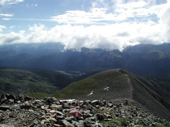 Looking eastward at Quandary ridgeline, at about 13,800 ft