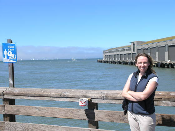 Lisa out near Pier 39