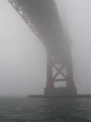 The southern pylon of the Golden Gate Bridge
