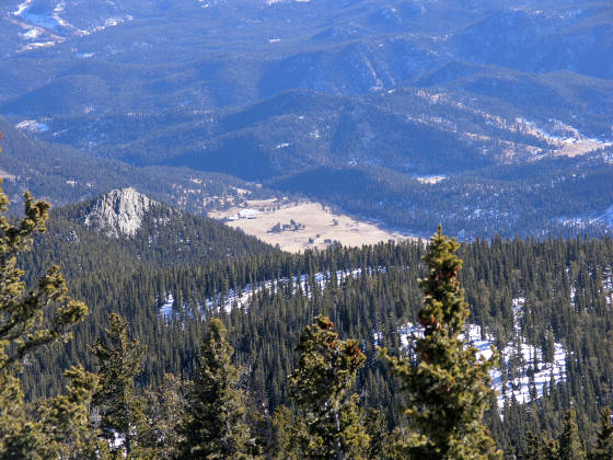 Mt. Evans Outdoor Lab, as seen from Squaw Mountain