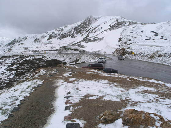 The trailhead: the top of Loveland Pass