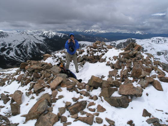 The rock shelter on the ridge (~13,000 ft)
