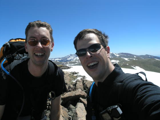 On the summit of the unnamed 12,900 ft peak