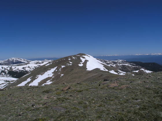 From 12,900ft peak, looking at the summit of Vasquez Peak