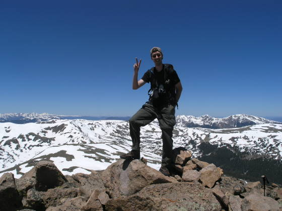 Lonny on Vasquez Peak (12,947ft)