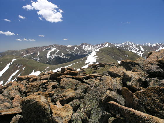 The 12,900ft peak summit from Vasquez Peak