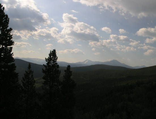 Mt. Guyot (left) and Bald Mountain (right) in the distance