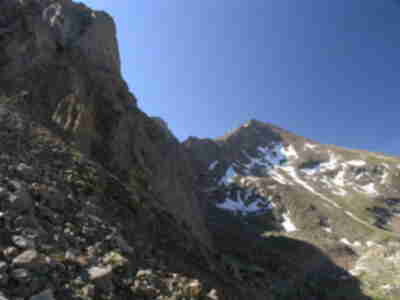 A view of Bierstadt from our gully