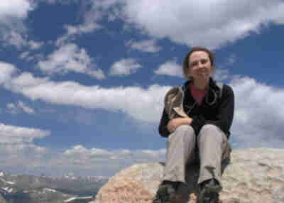 Lisa, relaxing at the summit