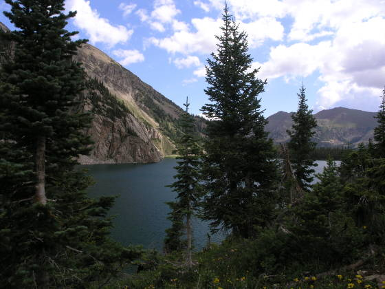 Looking Northeast across Snowmass Lake