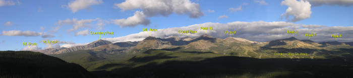 Ten Mile Range seen from Boreas Pass
