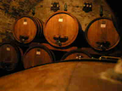 Inside the Contucci wine cellar in Montepulciano