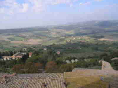 View eastward from Montepulciano
