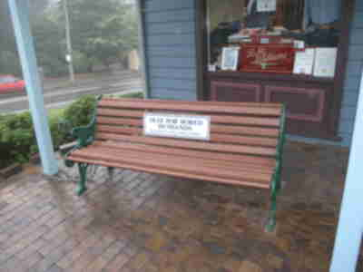 A bench in Leura