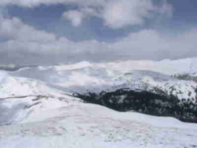 A glance over the Continental Divide towards the Tenmile range