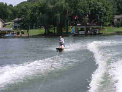Chrissy on the kneeboard