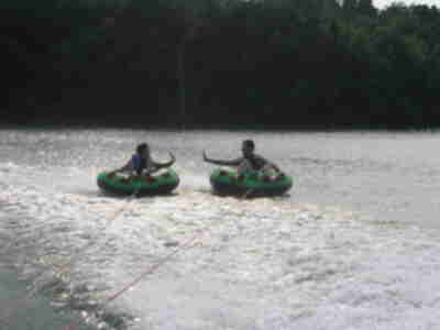 Brian and Julie on the tubes