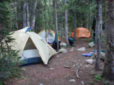 Camp (Brian, Brad & Shari, and Lonny's tent from near to far)