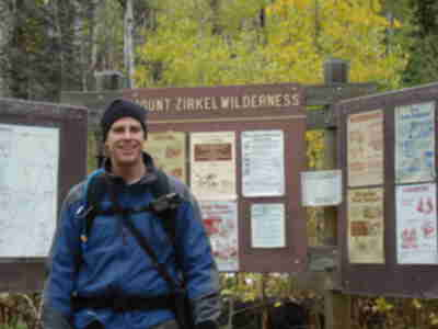 Brian before setting off into the Mt. Zirkel Wilderness