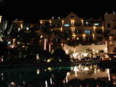 Pueblo Bonito at night