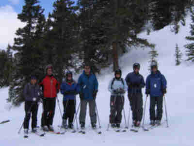 Shari, Brad, Stephanie, Mark, Lisa, Brian, and Matt in Montezuma Bowl