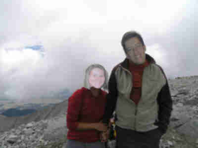 """Tracy"" and ""Lonny"" on the summit of Antero"