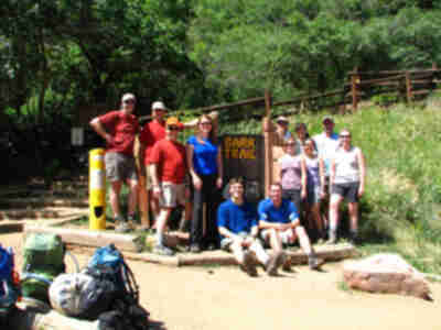 The group at the trailhead