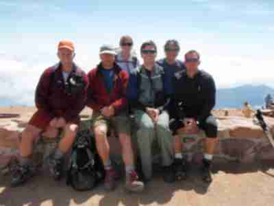 Alan, Brad, Pam, Andy, Shari, and Mike on the summit