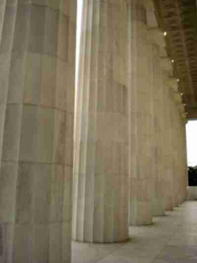 Columns of the Lincoln Memorial