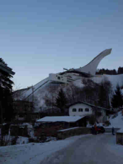 The ski jump in Partenkirchen