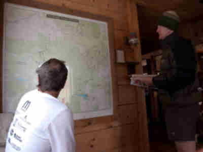 Rurik and Jay examine the 10th Mountain Division hut system