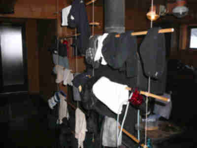 The gear drying