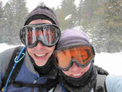 Brian and Lisa out skiing
