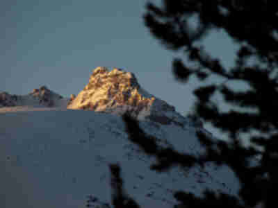 Another unnamed peak across from the hut