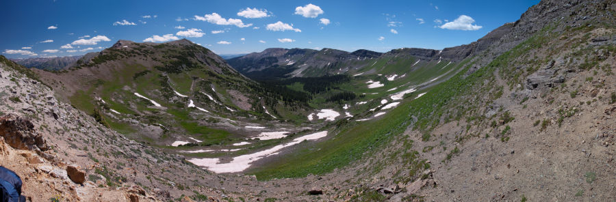 Peeler Basin below Garfield Pass