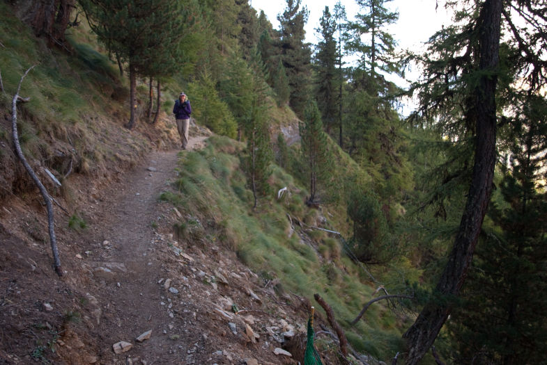 Hiking up out of Zinal