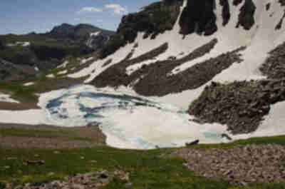 It's very clear why this is called Snow Lake