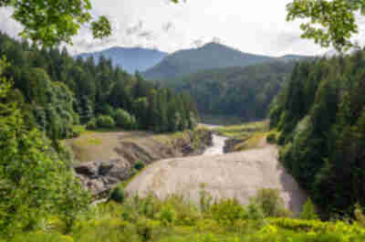 Site of the Elwha Dam (removed in 2011)