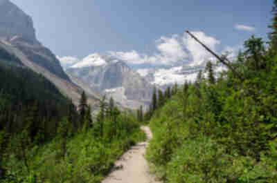 "The longer we hiked, the more amazing the views became.  The peak on the left is called ""The Mitre"""