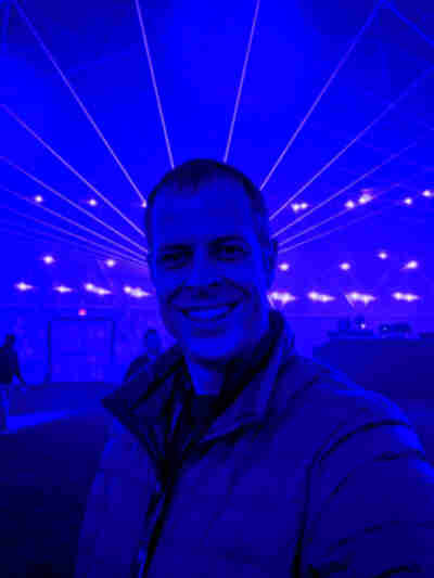 Inside the laser dome